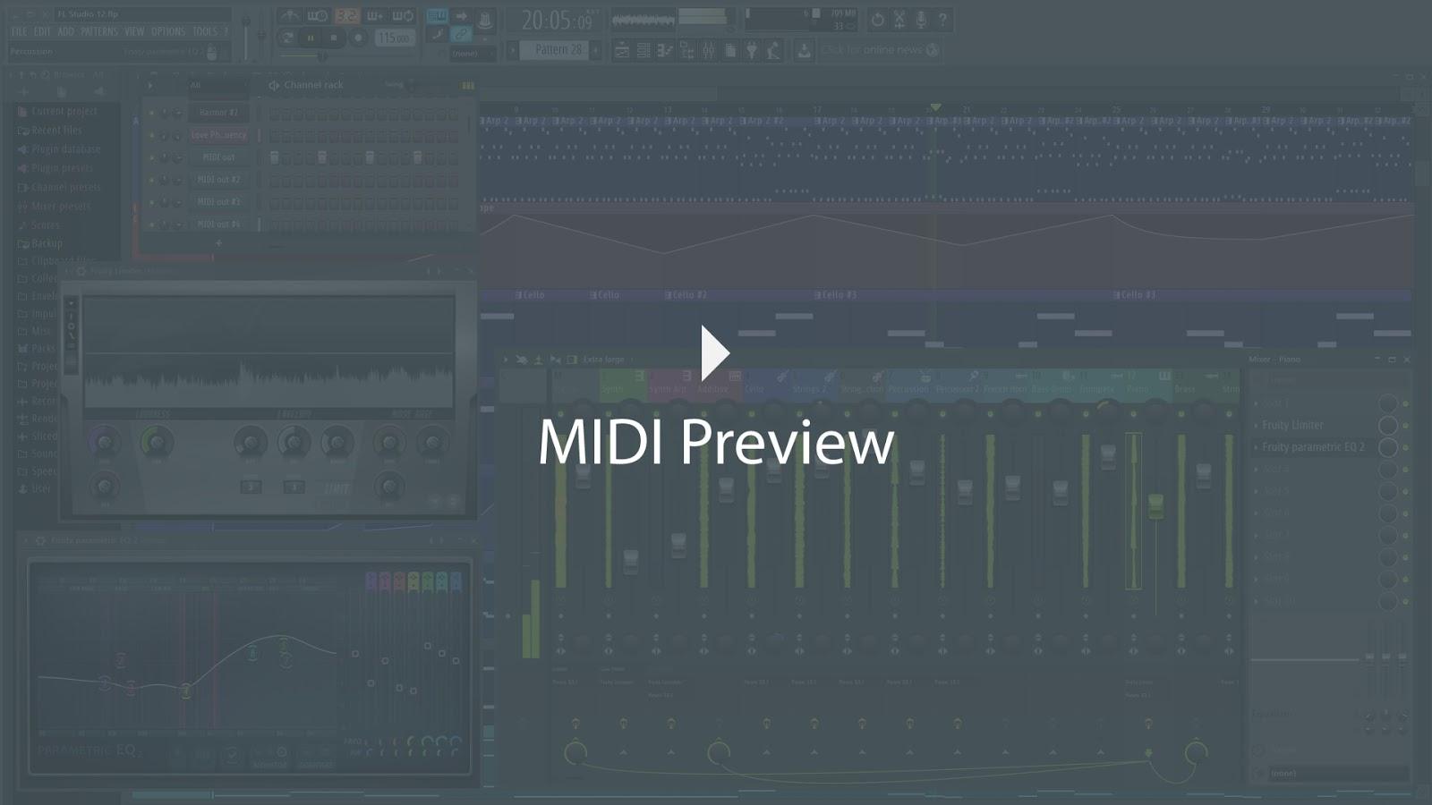 cymatics-fl studio 20-midi preview