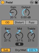 ableton live 10 pedal