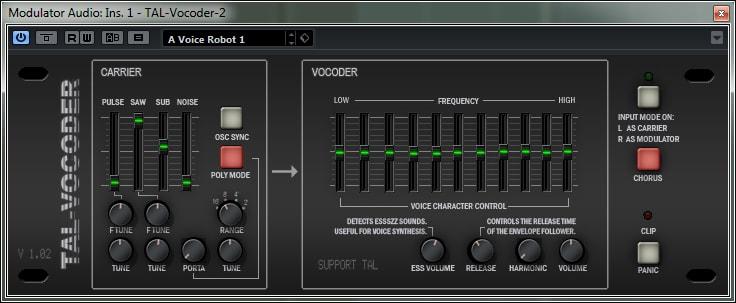 cymatics-vocoder vst plugins-TAL