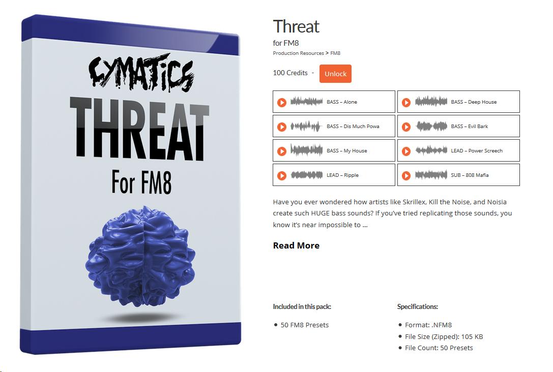 academy - threat - fm8 presets