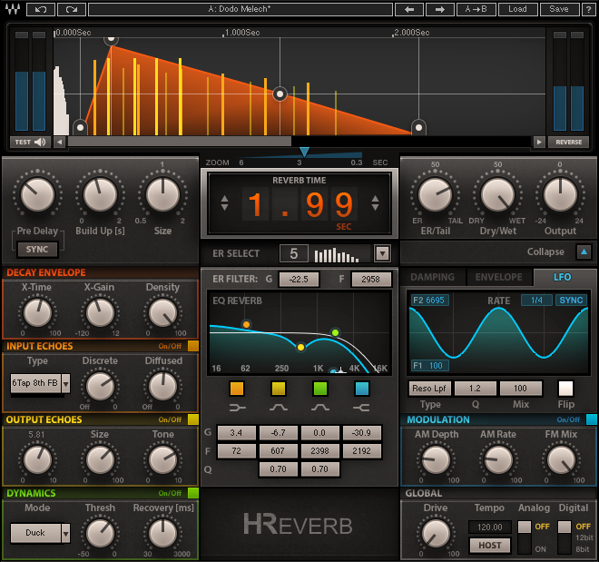 cymatics-best reverb plugins-waves h reverb