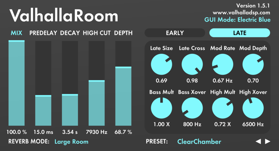cymatics-best reverb plugins-valhalla room