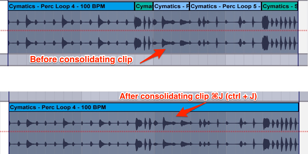 cymatics-ableton keyboard-shortcuts-consolidate