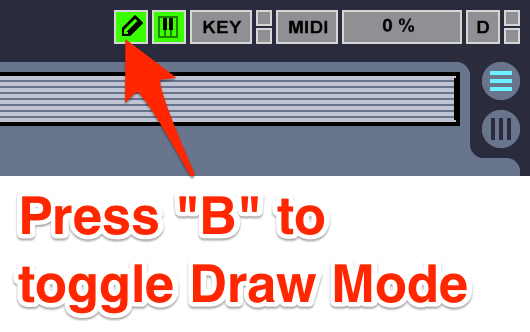 cymatics-ableton keyboard-shortcuts-draw mode