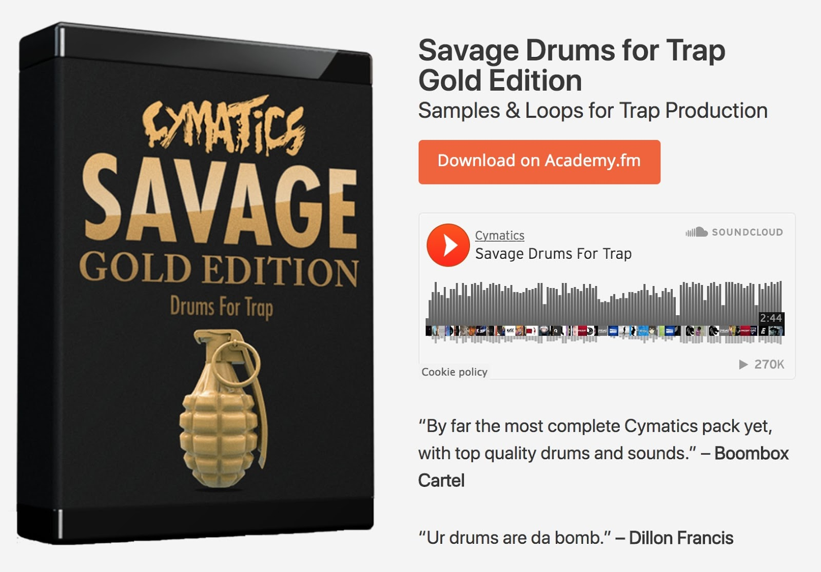 cymatics-how to make trap music-savage drums